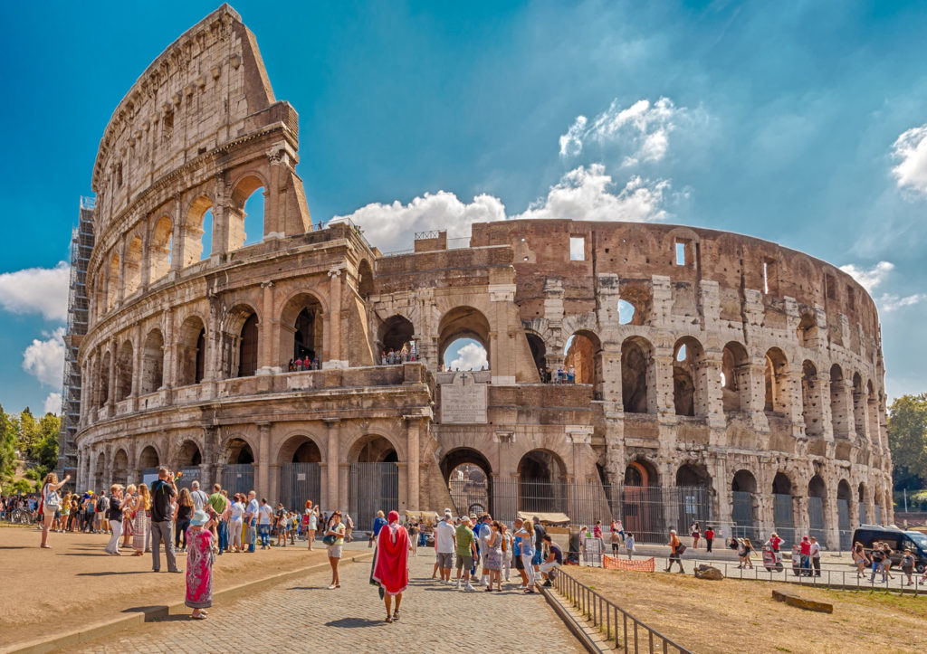 Colosseum Entrance with Audio Guide, Roman Forum and Palatine Hill - Colosseum or Flavian Amphitheatre - an amphitheater, an architectural monument of ancient Rome..JPG