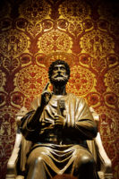 Saint Peter Basilica Self-Guided Tour - Statue of St. Peter in Vatican (Rome, Italy).JPG