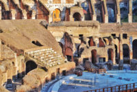 Colosseum and Ancient Rome Walking Tour - Seating terraces and the underground Labyrinth of corridors that once held tigers and gladiators under the floor of the Colosseum.JPG