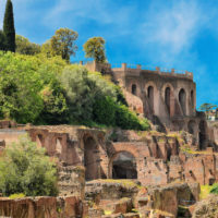 Colosseum Express Guided Tour - Remains of ruined Palatine Hills in Rome.JPG