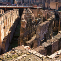 Ancient Rome Tour with Colosseum Underground - Deep circular galleries of Colosseum, Flavian Amphitheater.JPG