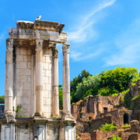 Colosseum and Ancient Rome Walking Tour- Temple of Vesta.JPG