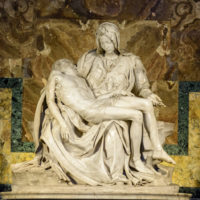 Vatican Museum, Sistine Chapel and St.Peter's Guided Tour - The famous sculpture of Pieta is the first famous sculpture by Michelangelo Buonarroti in St. Peter's Cathedral in the Vatican..JPG