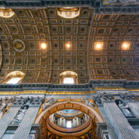 Saint Peter Basilica Self-Guided Tour - Interior of St. Peter's Basilica. St. Peter's Basilica is one of the main tourist attractions of Rome..JPG