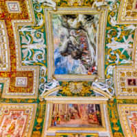 Early Entry Vatican Museums and Small-Group Tour with St. Peter's and Sistine Chapel - Gallery of the Maps. Paintings on the walls and the ceiling at the Vatican Museum, dating from 1506AD..JPG