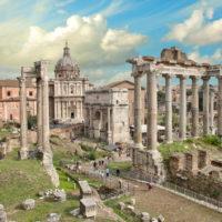 Omnia Card -  Vatican & Rome City Pass +Transportation - Beautiful Roman Forum-Temple of Saturn.JPG