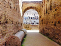 Colosseum Entrance with Audio Guide, Roman Forum and Palatine Hill - Colosseum (Colosseo) inside passage (corridor)..JPG