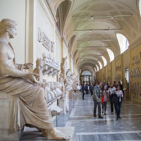 Early Entry Vatican Museums and Small-Group Tour with St. Peter's and Sistine Chapel - Roman marble sculptures from Museums of Vatican. Exhibition hall with lots to people.JPG