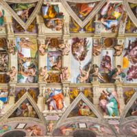 Early Entry Vatican Museums and Small-Group Tour with St. Peter's and Sistine Chapel - Ceiling of the Sistine chapel in the Vatican museum in Vatican.JPG