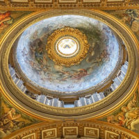 Saint Peter Basilica Self-Guided Tour - Interior Ceiling of St Peter's Basilica  The world's largest church and center of Chrisitianity.JPG