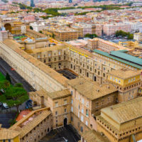 Vatican Museum, Sistine Chapel and St.Peter's Guided Tour -  The Vatican museums - Aerial view from St. Peter's Basilica in Rome.JPG