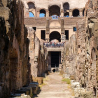 Ancient Rome Tour with Colosseum Underground -   Interior of the ruins of the Colosseum in central Rome.JPG