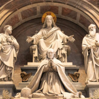 Saint Peter Basilica Self-Guided Tour - Horizontal picture of beautiful sculpture inside St Peter's Basilica in Vatican.JPG