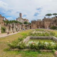Colosseum and Ancient Rome Walking Tour- Ancient Roman Forum - House of the Vestal Virgins.JPG