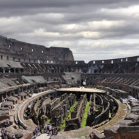 Ancient Rome Tour with Colosseum Underground - Arena and underground levels at the Colosseum in Rome..JPG