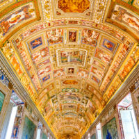 Vatican Museums and Sistine Chapel Fast -Track Entry - Paintings on the walls and the ceiling in the Gallery of Maps, at the Vatican Museum. It was established in 1506.JPG