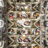 Vatican Museum, Sistine Chapel and St.Peter's Guided Tour - Ceiling of the Sistine chapel..JPG