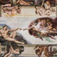 Vatican Museums and Sistine Chapel Fast -Track Entry - Detail of the Universal Judgement inside the Sistine Chapel in Vatican City..JPG