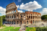 Small Group Colosseum and Roman Forum Guided Tour - Roman Colosseum is one of the main travel attractions. Colosseum in the sunlight. Scenic view of Colosseum..JPG