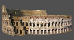 3D renders of the Roman Colosseum