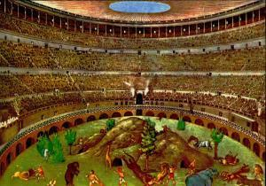 Colosseum Games - Reconstruction of a hunt of wild animals