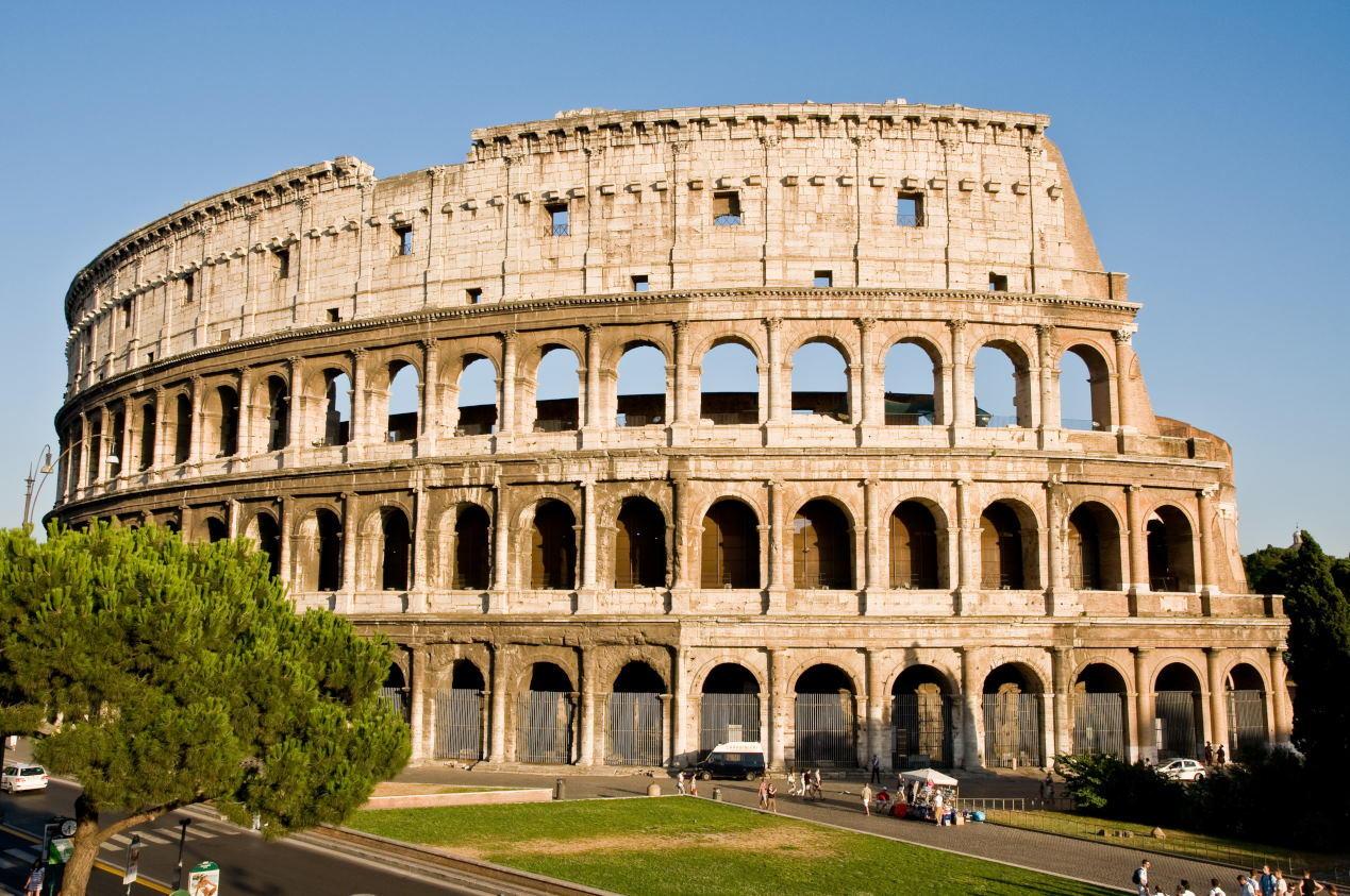 Colosseum in Italian -Colosseum in Rome, Italy