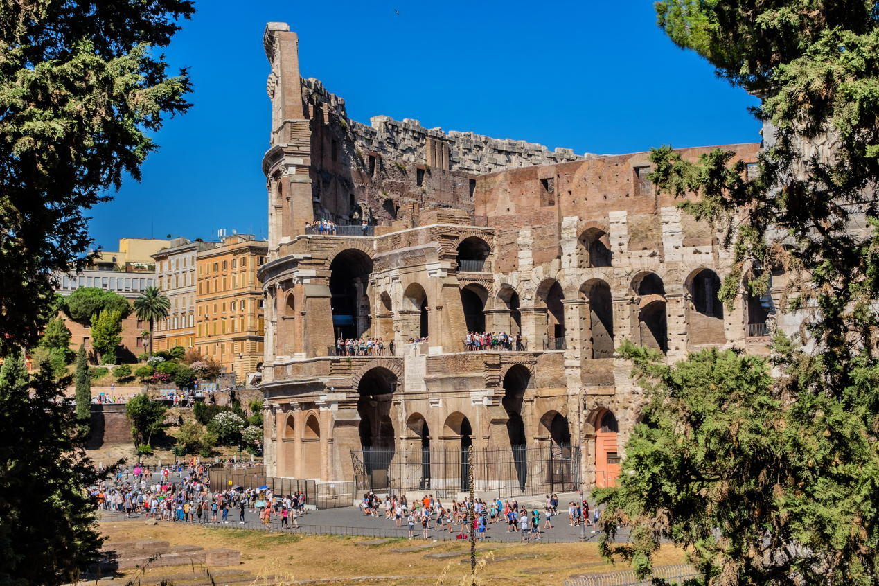 Iconic ancient Colosseum. Colosseum is probably the most impressive building of the Roman Empire.