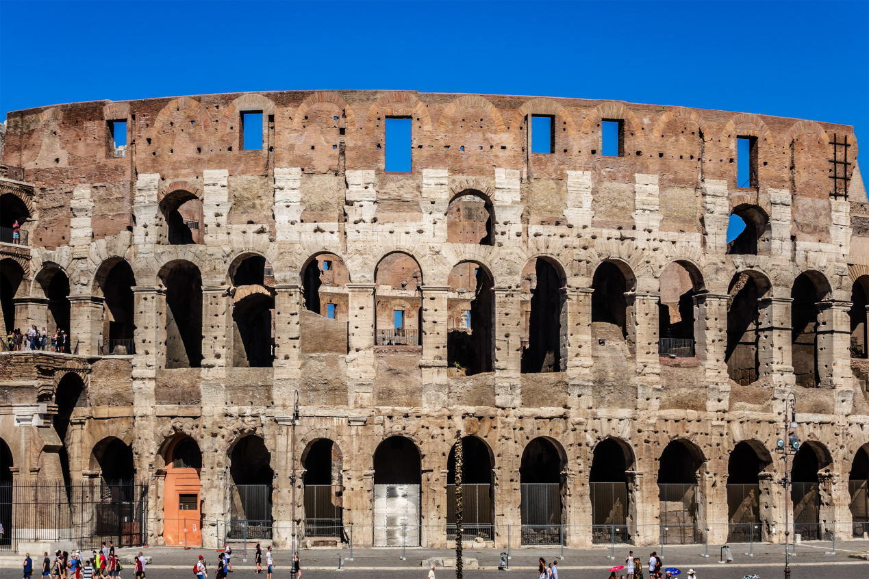 Iconic ancient Colosseum.