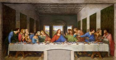 """Leonardo's Famous """"Last Supper"""" is in Milan."""
