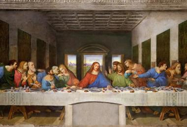 "Leonardo's Famous ""Last Supper"" is in Milan."