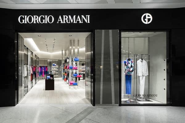 Armani Shop in Milan