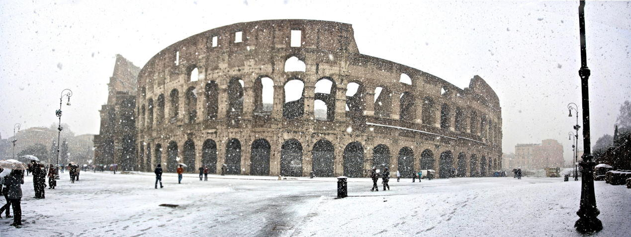 Colosseum under Snow