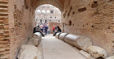 Colosseum, Coliseum or Coloseo, Flavian Amphitheatre largest ever built symbol of ancient Roma city in Roman Empire. (2)