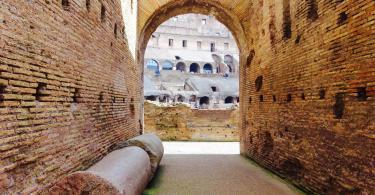 Colosseum (Colosseo) inside passage (corridor).