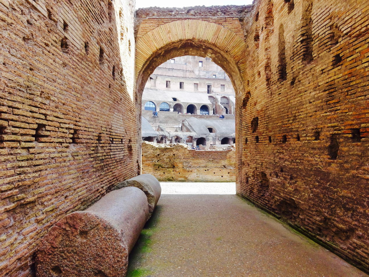 Colosseum (Colosseo) inside passage (corridor).