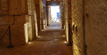 Colosseum basement tunnel, Rome, Italy