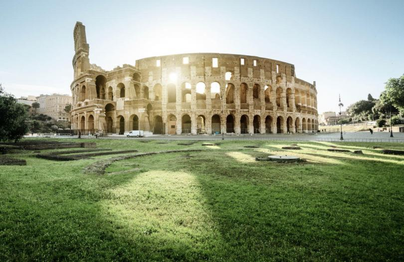 Colosseum in Rome and morning sun, Italy-2