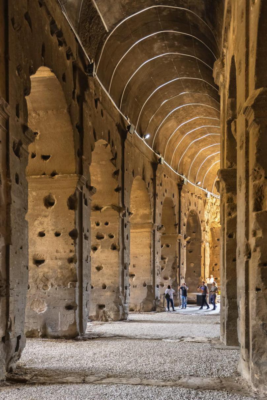 Interior of Colosseum.