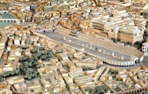Model of Ancient Rome Circus Maximus, Domus Augustana and the Palatine.