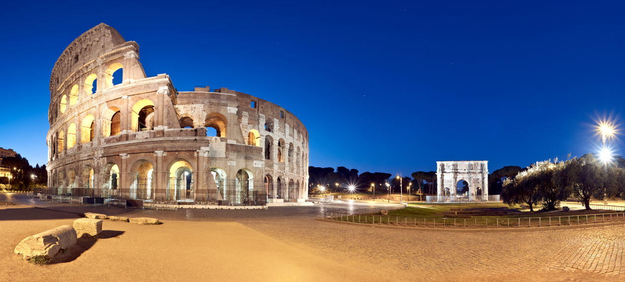 Colosseum by Night - Panorama View