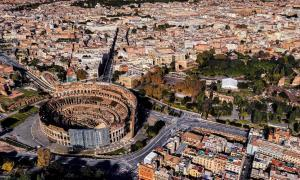 Roman Colosseum from Drone view