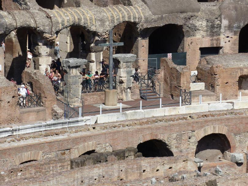 Rome Colosseum picture showing part of the Colosseum in Rome, taken in August 2015.