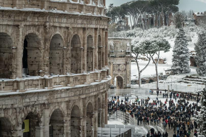 Colosseum under Snow