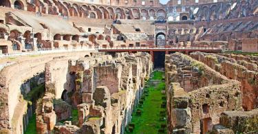 Ruins of the colloseum in Rome, Italy