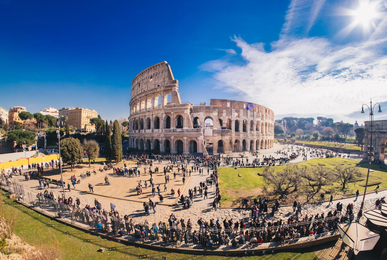 The Roman Colosseum in Rome, Italy, HDR panorama