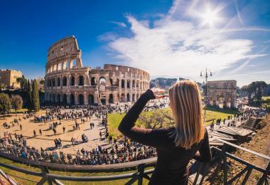 Panoramic views of Colosseum