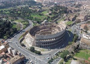 aerial of the Colosseum
