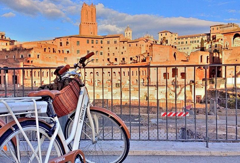 biking in rome