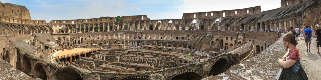 panorama, Arena of Colosseum or Flavian Amphitheatre