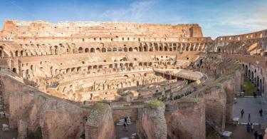 Huge interior View on Coliseum colosseum